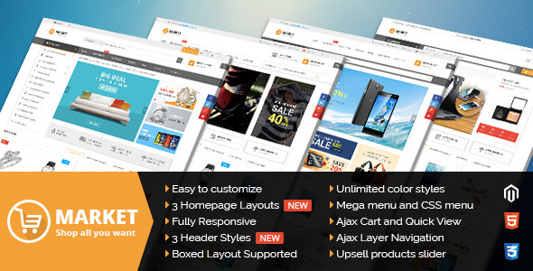 Market - Multi-purpose Magento theme with fully responsive layout
