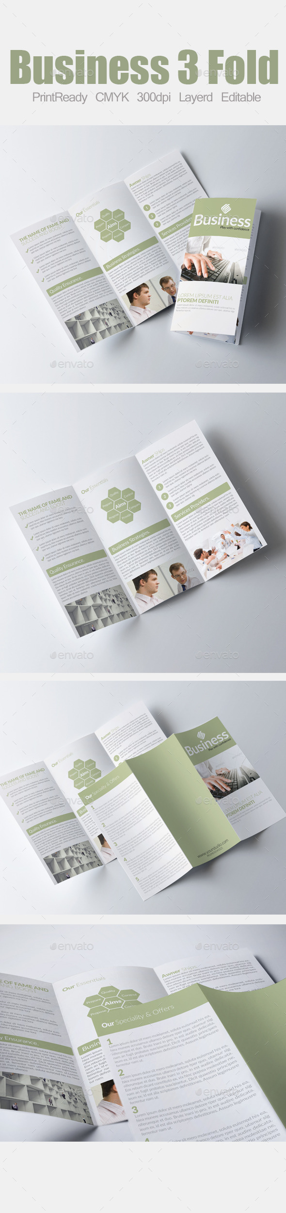 GraphicRiver Tri Fold Business Brochure 9010314