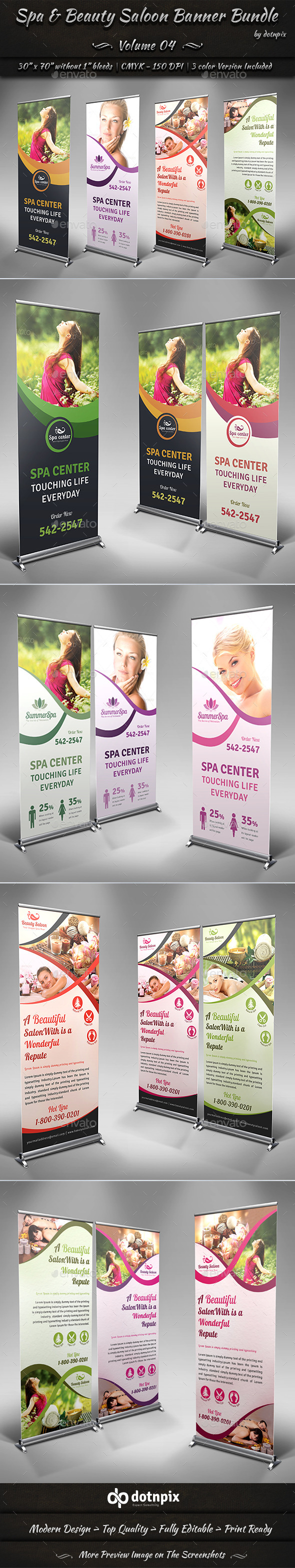 GraphicRiver Spa & Beauty Saloon Banner Bundle Volume 4 9010588
