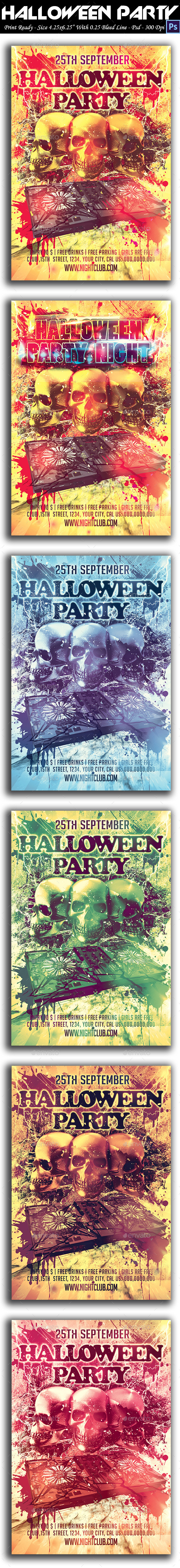 GraphicRiver Halloween Party Flyer 9010769