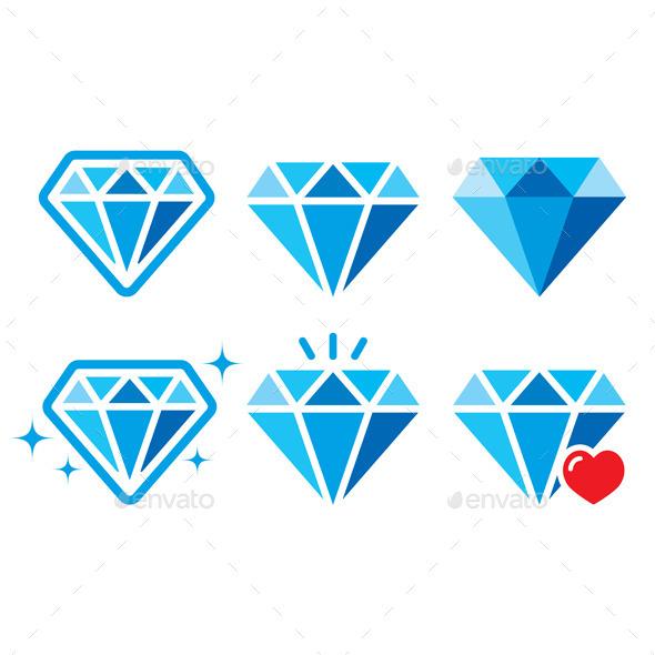 GraphicRiver Diamond Icons 9011075