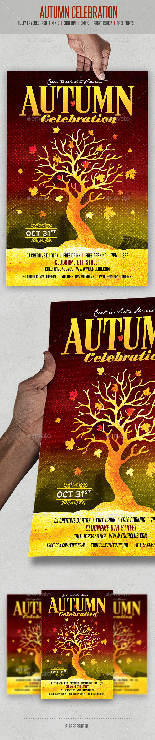GraphicRiver Autumn Celebration 9011077
