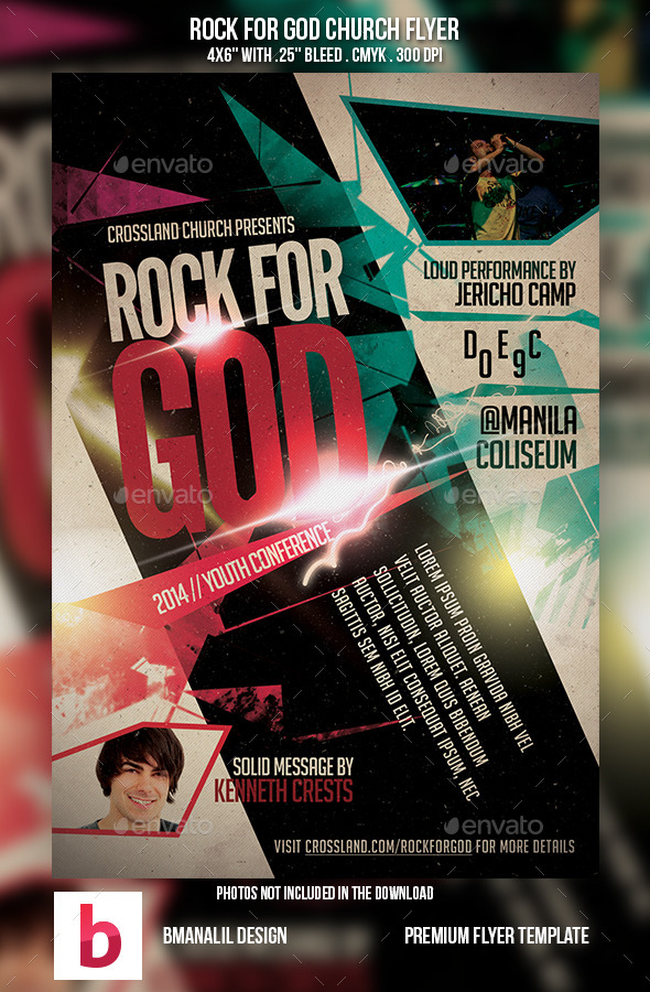 GraphicRiver Rock for God Church Flyer 9011080