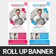 Medical Health Plan Rollup Banner Template - GraphicRiver Item for Sale