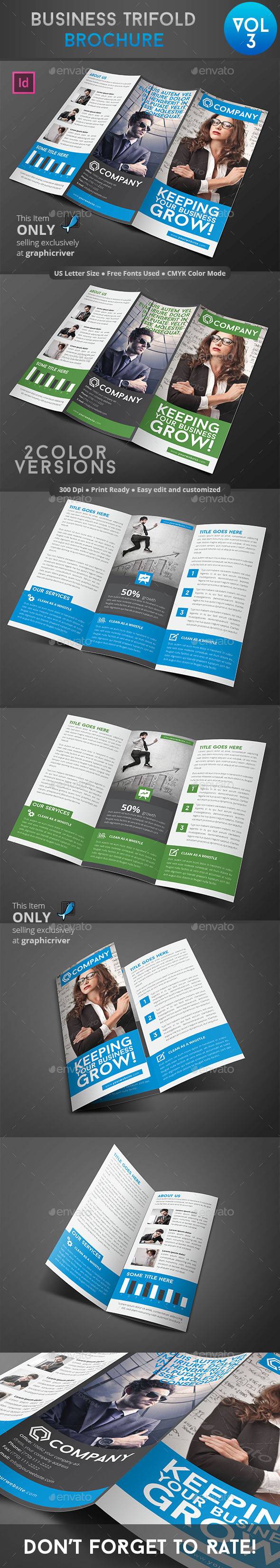 GraphicRiver Business Trifold Brochure Vol 3 9011249