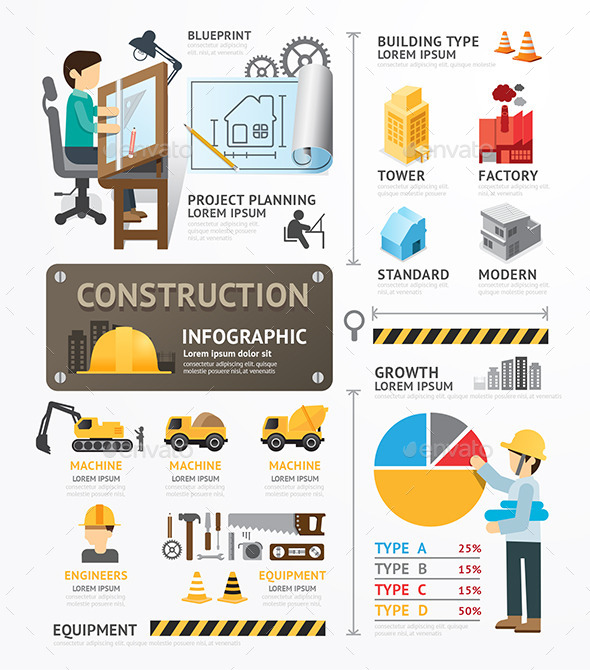 GraphicRiver Construction Template Design Infographic 9011393