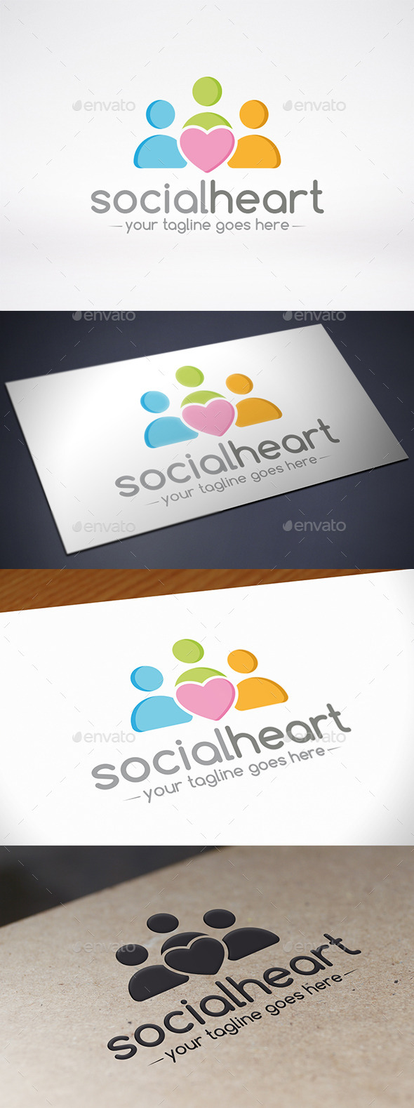 GraphicRiver Social Love Logo Template 9011573