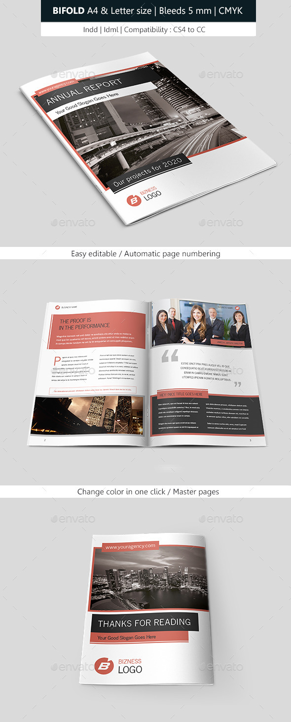GraphicRiver Bifold Business Brochure Template 9011577