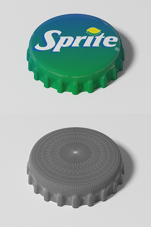 3DOcean Sprite Bottle Tin Cap 9011919
