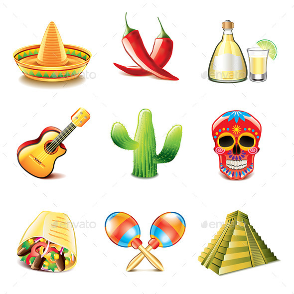 GraphicRiver Mexican Culture Icons 9012156