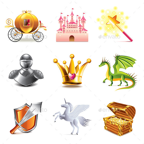 GraphicRiver Fairy Tale Icons 9012160