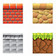 Textures for Platformers Icons Vector Set - GraphicRiver Item for Sale