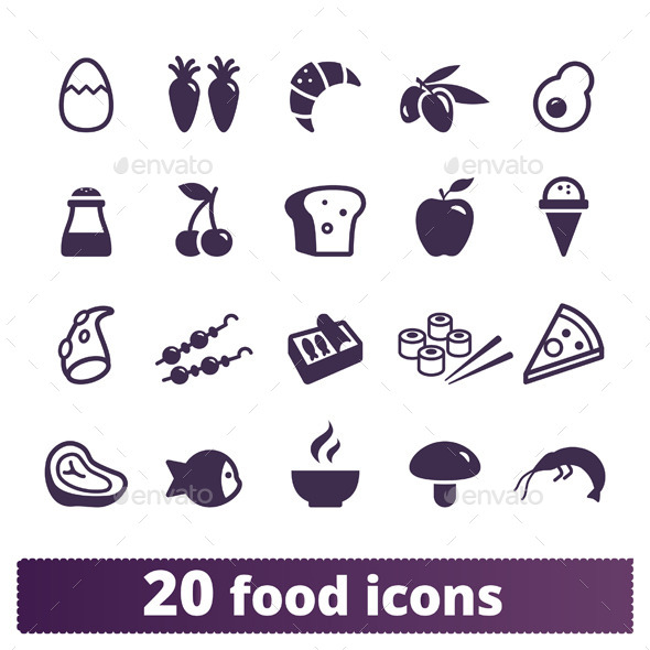 GraphicRiver Food Icons Vector Set 9012409