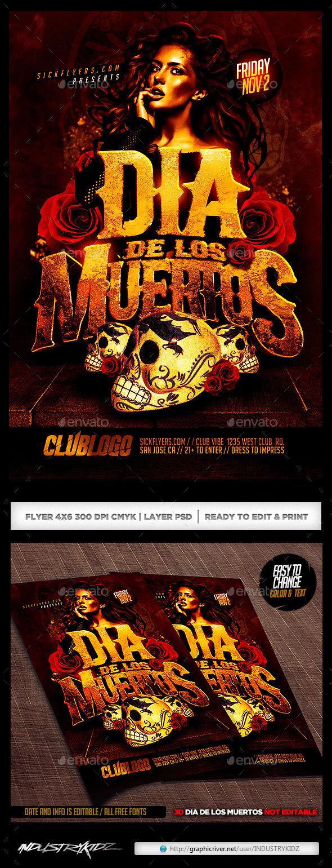 GraphicRiver Dia De Los Muertos Flyer 9012431