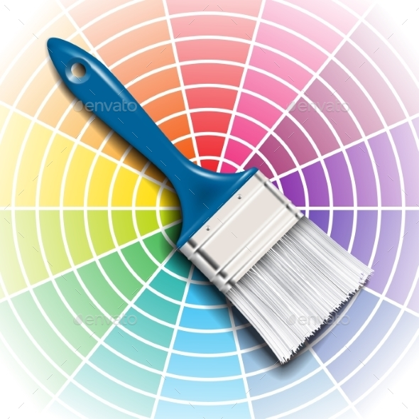 GraphicRiver Paint Brush and Color Wheel 9012447