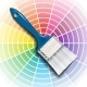 Paint Brush and Color Wheel - GraphicRiver Item for Sale