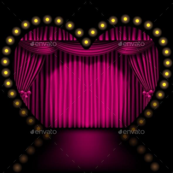 GraphicRiver Heart Shape Stage 9012453