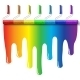 Rainbow Paint Roller Brush - GraphicRiver Item for Sale
