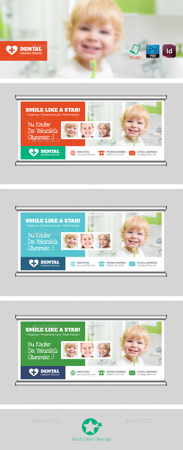 GraphicRiver Dental Billboard Templates 9012610