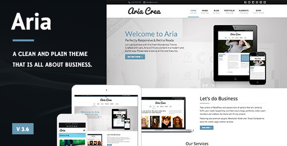 Aria - Pure Business Theme - Business Corporate