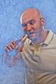 man emotionally open beer teeth - PhotoDune Item for Sale