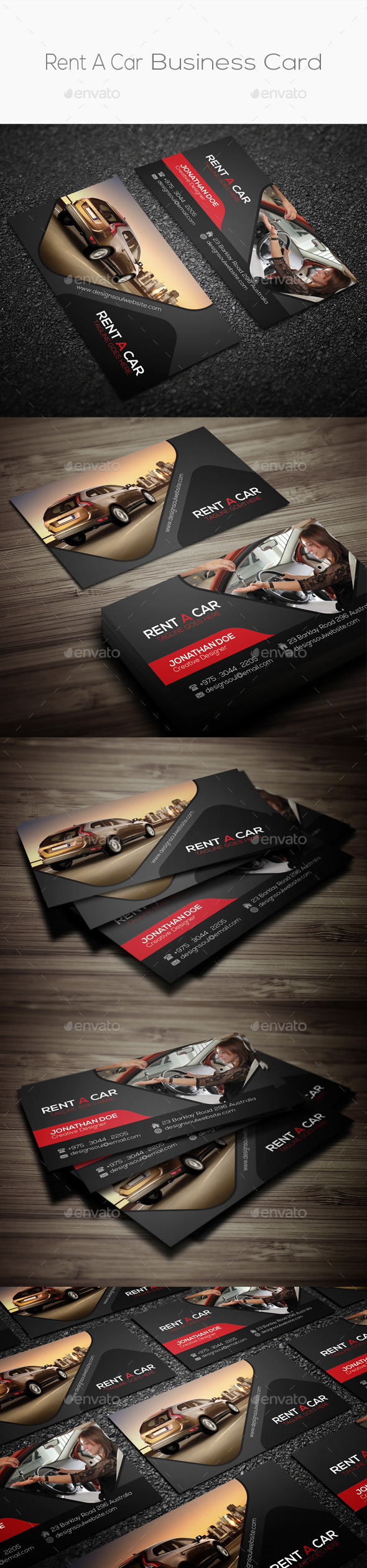 GraphicRiver Rent A Car Business Card 9013065