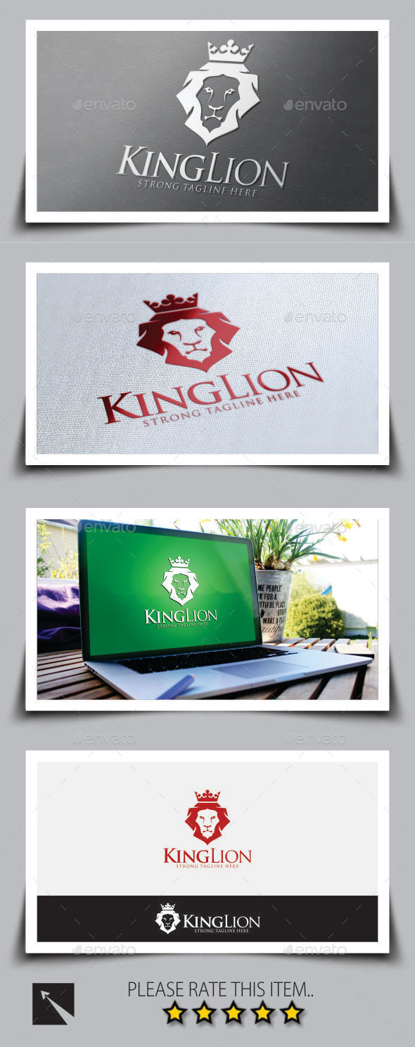 GraphicRiver King Lion Logo Template 9013091
