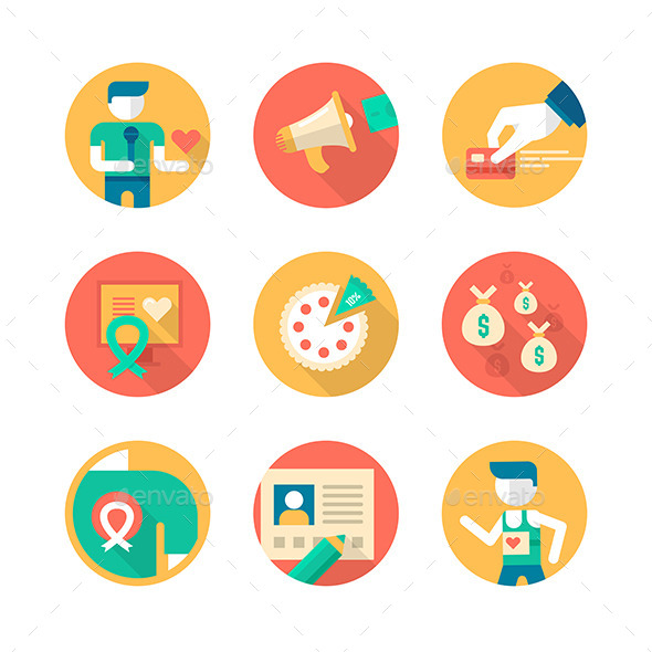 GraphicRiver Charity and Donation Icons 9013097