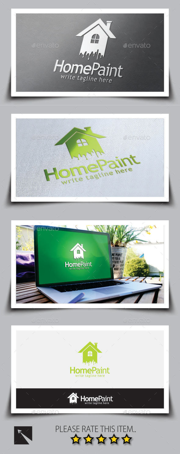 GraphicRiver Home Paint Logo Template 9013211