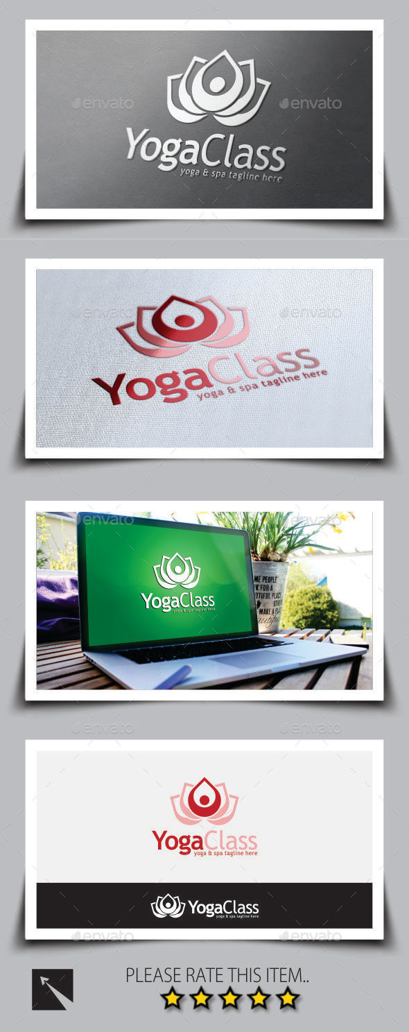 GraphicRiver Yoga Logo Template 9013319
