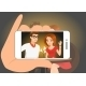 Happy Couple is Doing Selfie of Themselves - GraphicRiver Item for Sale