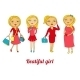 Set of Beautiful Girls in Different Roles - GraphicRiver Item for Sale