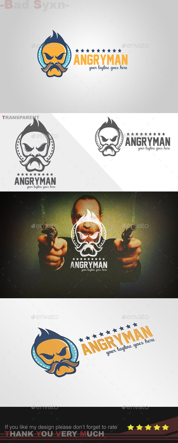 GraphicRiver Angryman Logo Template 9013383