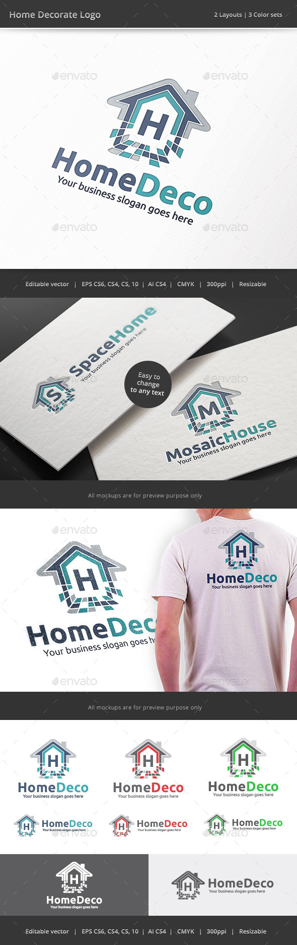 GraphicRiver Home Decorate Logo 9013188