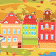 Seamless Pattern with Decorative Colorful Houses  - GraphicRiver Item for Sale