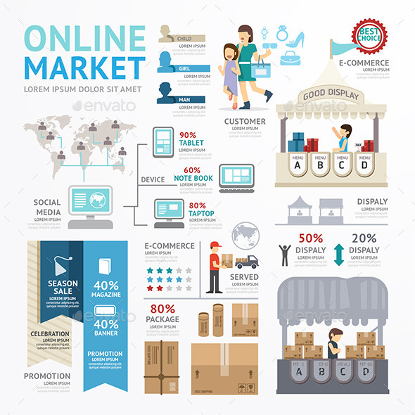 GraphicRiver Ecommerce Business Market Online Template Design 9014231