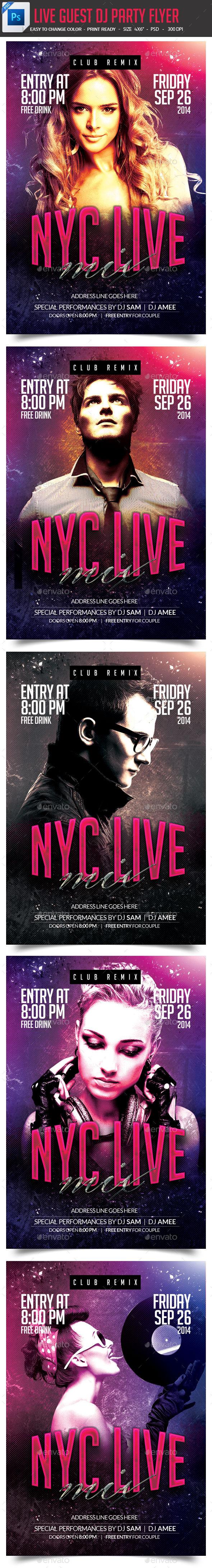 GraphicRiver DJ Artist Live Concert Flyer 9014234