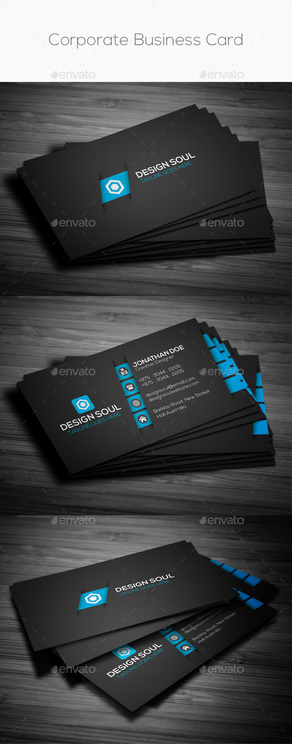 GraphicRiver Corporate Business Card 9014242