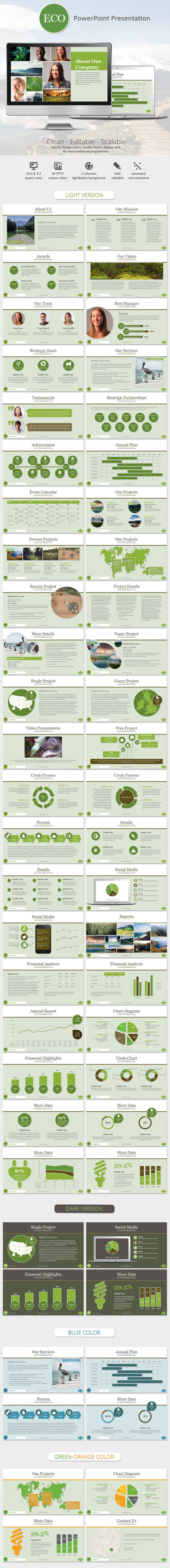 GraphicRiver Eco PowerPoint Presentation Template 9014355