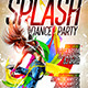 Splash Dance Party Flyer Template