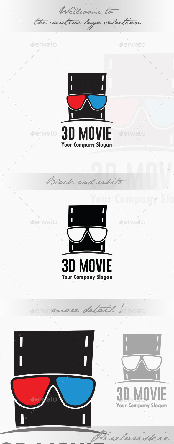 GraphicRiver 3D Movie Logo 9014409