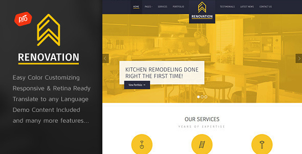 ThemeForest Renovation Construction Company Theme 9014411