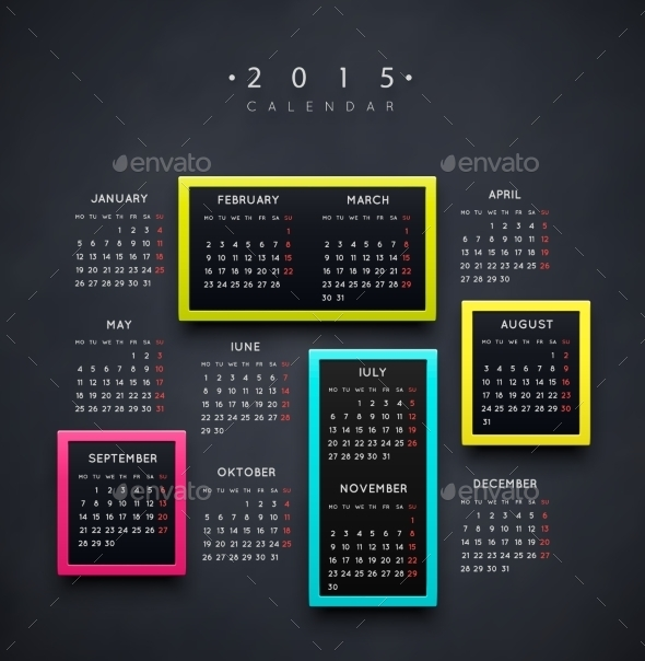 GraphicRiver Calendar 2015 Year 9014415