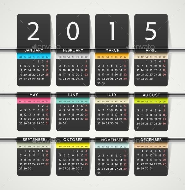 GraphicRiver Calendar 2015 9014418