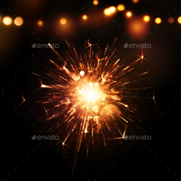 GraphicRiver Holiday Background with Sparkler 9014420