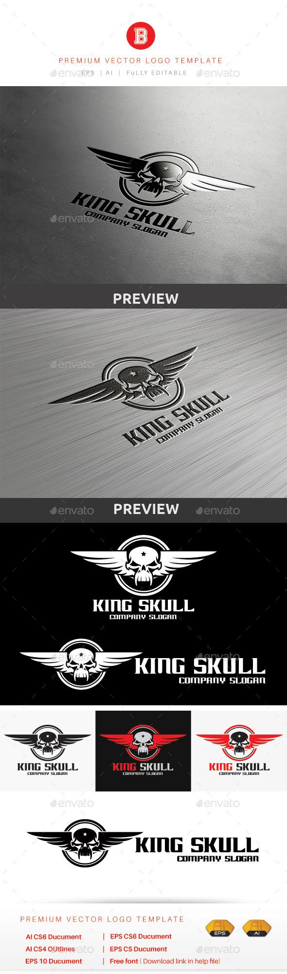 GraphicRiver King Skull 9014494