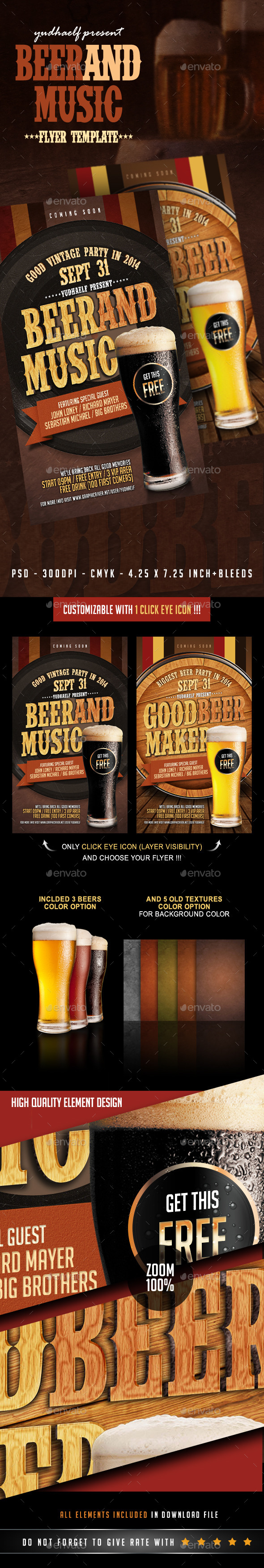 GraphicRiver Beer And Music 9014521