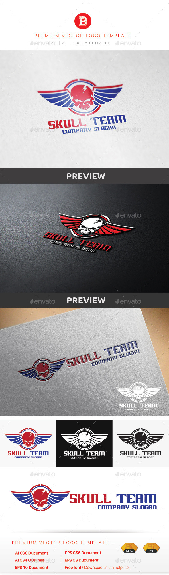 GraphicRiver Skull Team 9014523