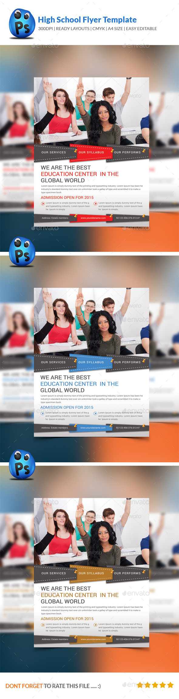 GraphicRiver High School Education Flyer Template 9014540