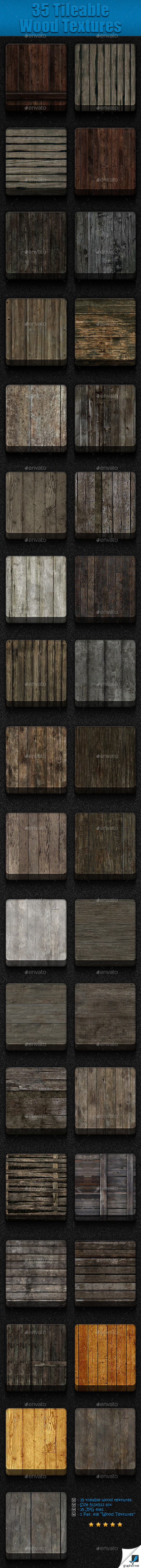 GraphicRiver 35 Tileable Wood Textures 9014696